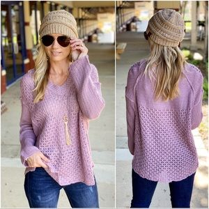 ✨LAST ONE✨Lilac knit sweater